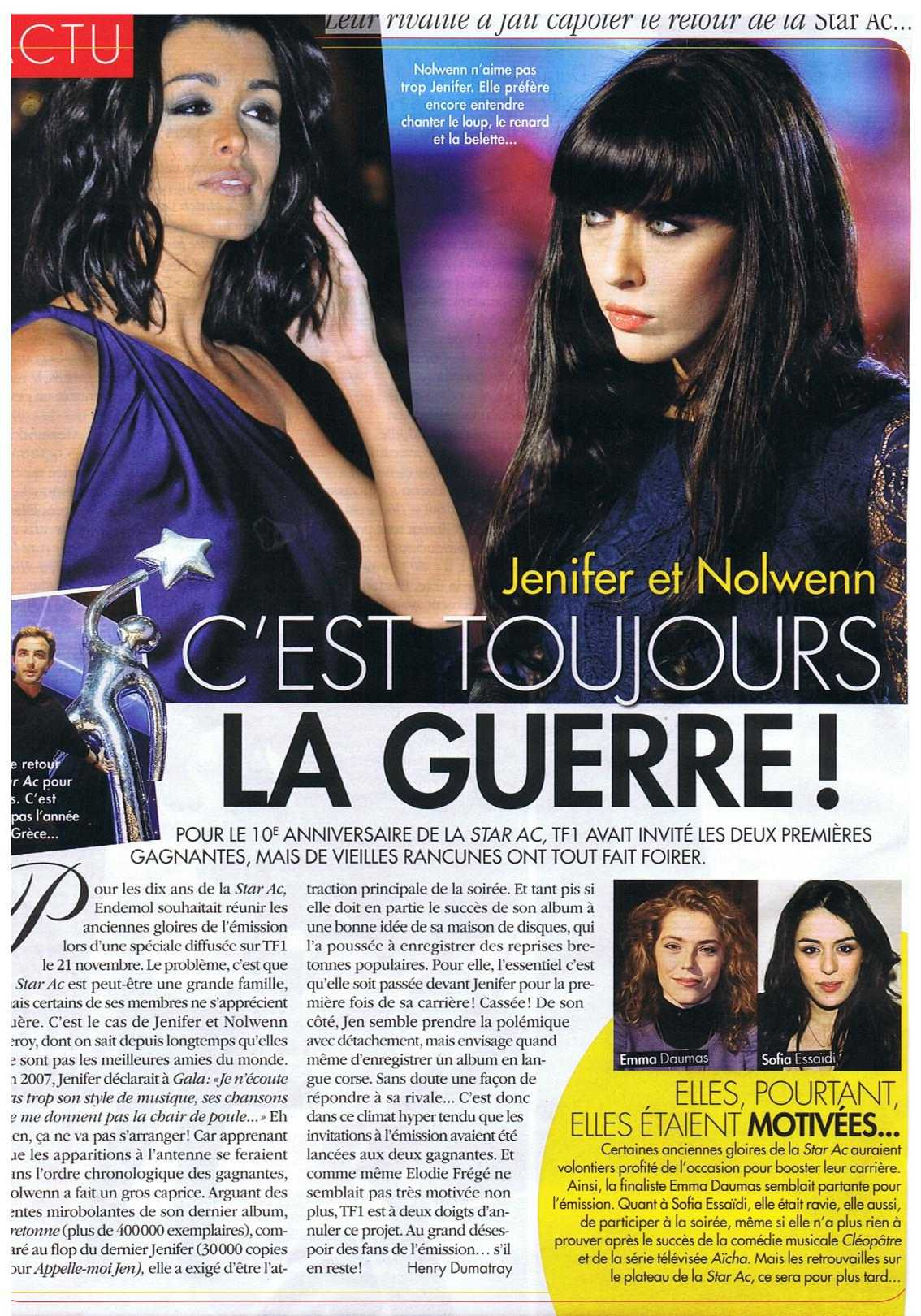 nolwenn on line forum jenifer nolwenn leroy la star ac 39 revient. Black Bedroom Furniture Sets. Home Design Ideas