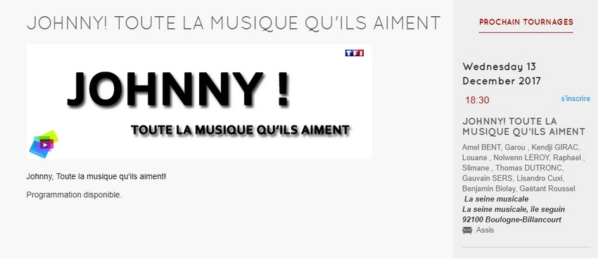 nolwenn on line forum tf1 merci johnny enreg le 13 12 diff le 6 janvier 21h videos p 16. Black Bedroom Furniture Sets. Home Design Ideas